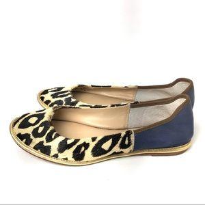 Diane Von Furstenberg Flat Shoes Leopard Botswana